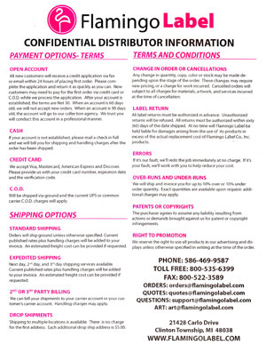 distributor information
